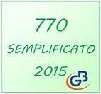 Rilascio 770 Semplificato 2015