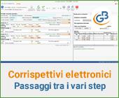 Corrispettivi elettronici: passaggi tra i vari step