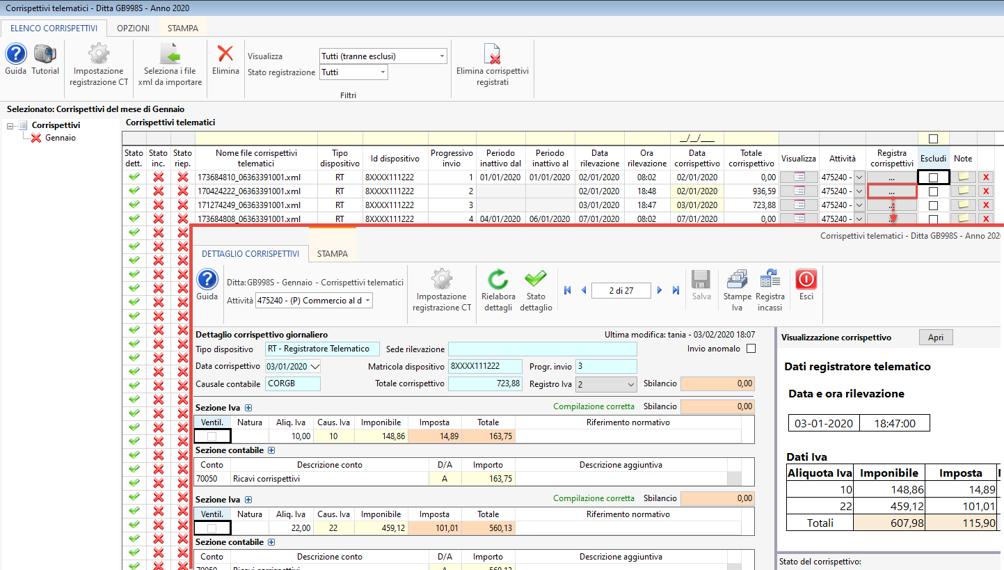 Importazione corrispettivi elettronici XML - Corrispettivi elettronici e registrazione in Prima nota