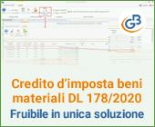 Credito d'imposta beni materiali DL 178/2020: fruibile in unica soluzione