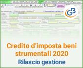 Credito d'imposta beni strumentali 2020: rilascio gestione