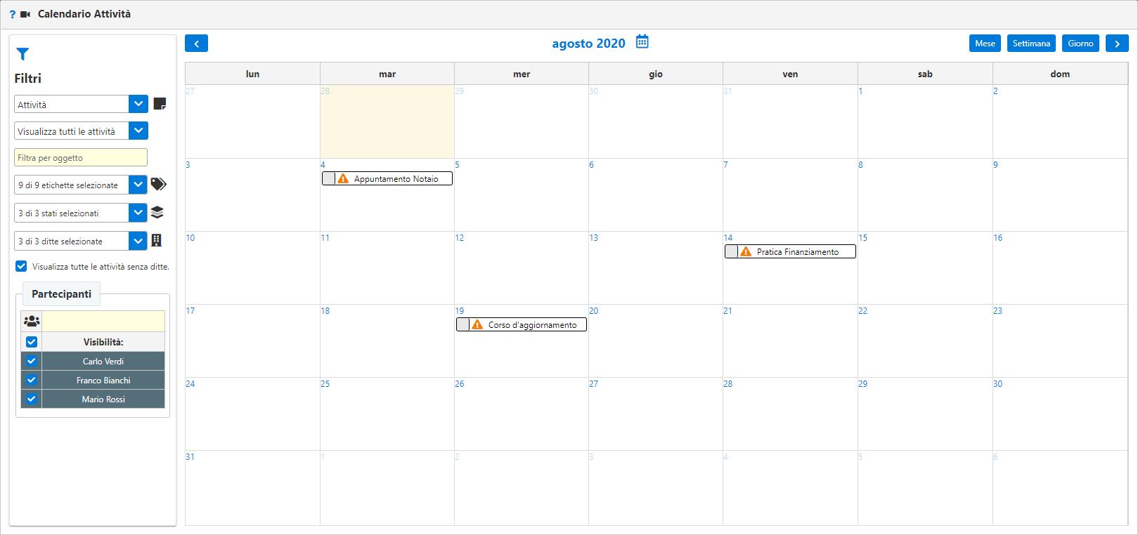 G:\Comunicazioni Giornaliere\Newsletter\Newsletter2020\07 Luglio 2020\IMG\CRM panoramica ed utilizzo - Compilazione calendario