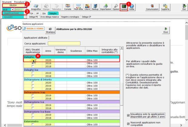 Deleghe Fatturazione Elettronica 2020: rilascio applicazione - gestione applicazioni