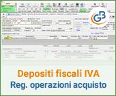 Depositi fiscali IVA: registrazione delle operazioni di acquisto