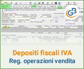 Depositi fiscali IVA: registrazione delle operazioni di vendita