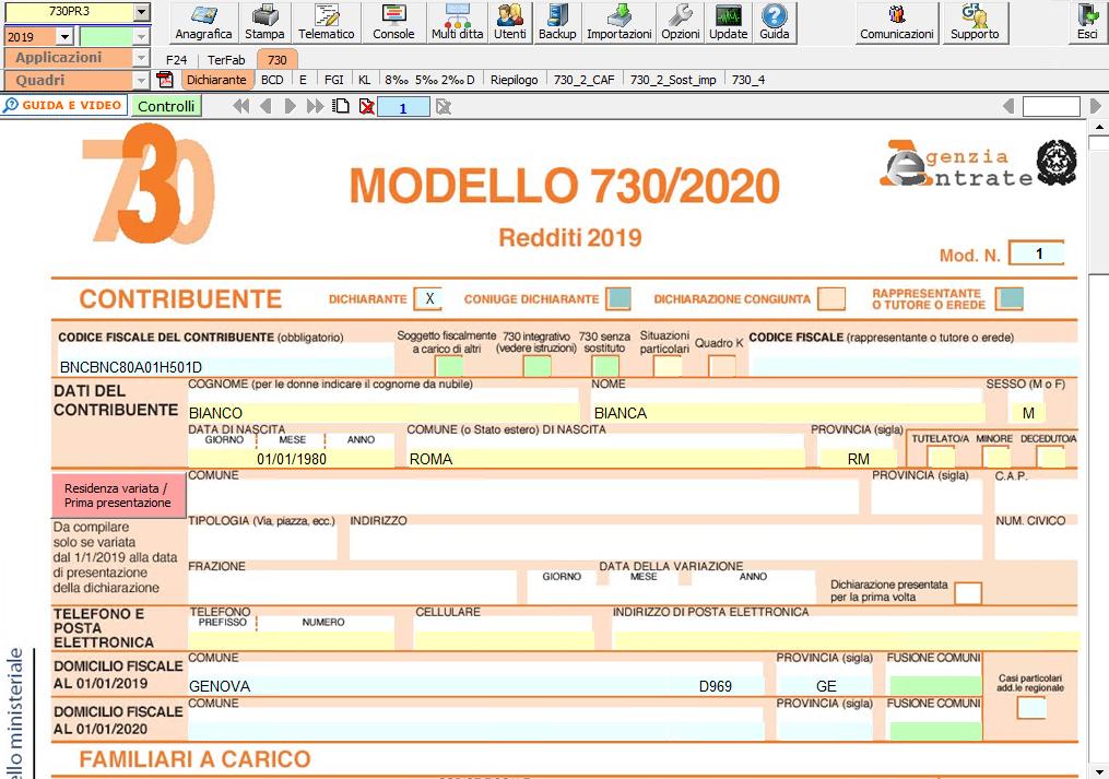 Dichiarazione 730 2020: disponibile applicazione - Modello dichiarazione 730 2020