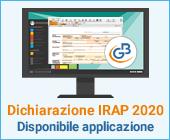 Dichiarazione IRAP 2020: disponibile applicazione