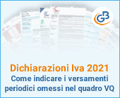 Dichiarazione Iva 2021: come indicare i versamenti periodici omessi nel quadro VQ