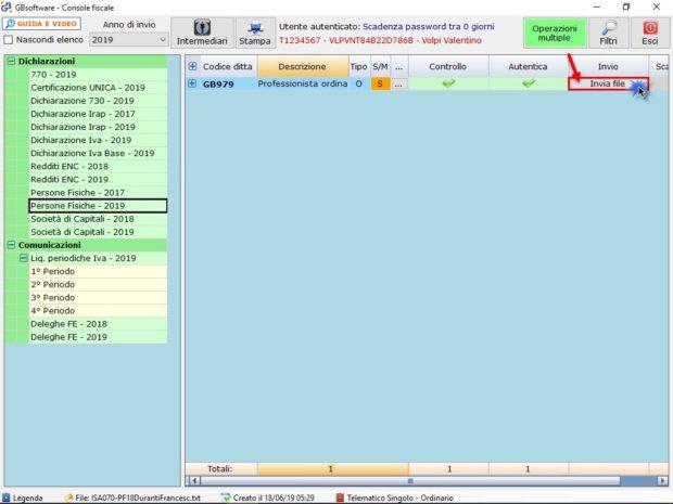 Dichiarazioni 2019: invio con o senza Console Telematica (seconda parte) - Invia file