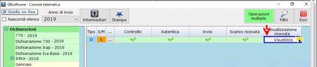 Dichiarazioni 2019: invio con o senza Console Telematica (seconda parte) - Visualizza operazioni multiple