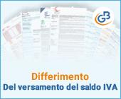 Differimento del versamento del saldo IVA