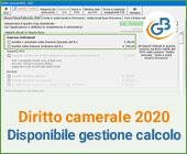 Diritto Camerale 2020: disponibile gestione per il calcolo