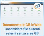 Documentale GB inWeb: condividere file a utenti esterni senza area GB