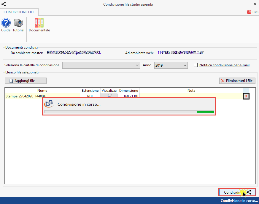 Documentale Web: condivisione file tra studio e cliente - Condivisione automatica file studio azienda