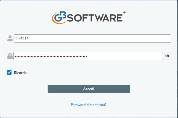 Documentale Web: condivisione file tra studio e cliente  - Maschera credenziali di accesso