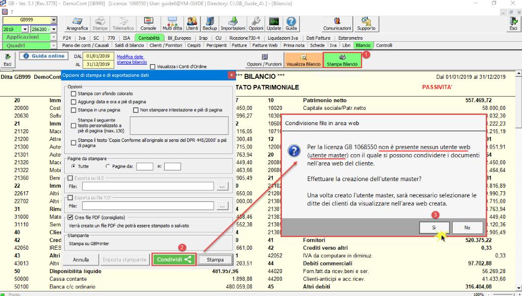 Documentale Web: condivisione file tra studio e cliente - Messaggio nessun utente web presente