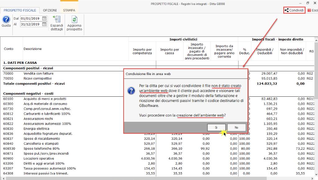 Documentale Web: condivisione file tra studio e cliente - Messaggio nessun ambiente web presente