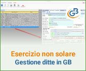 Esercizio non solare: gestione delle ditte in GB
