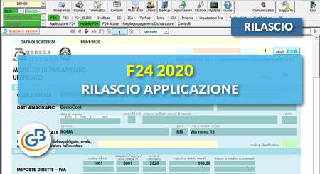 News - F24 2020: rilascio applicazione