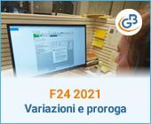 F24 2021: Variazione 2° acconto e proroga al 30/04/2021
