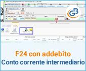 F24 con addebito su conto corrente Intermediario