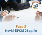 Fase 2: quali novità nel DPCM del 26 aprile?