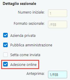 Fatturazione inWeb: invio documenti tramite Adesione Online: adesione online