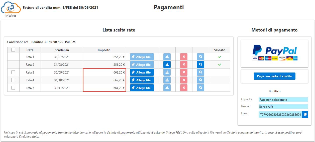 Fatturazione inWeb: invio documenti tramite Adesione Online: aggiornamento adesione online