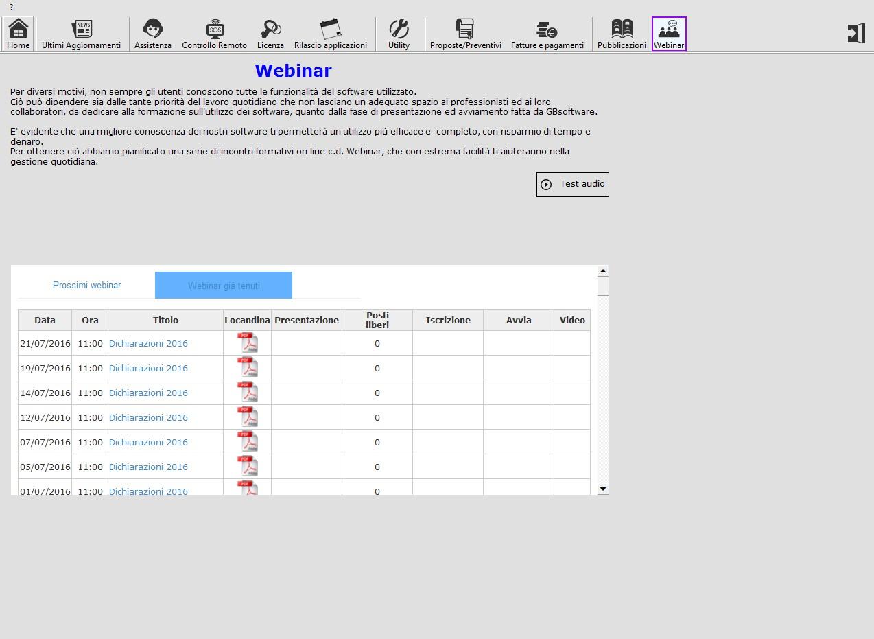 GB Supporto - Webinar
