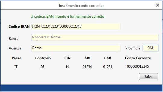 Gestione Banche e gestione Deleghe - Revoche all'utilizzo del conto corrente - inserimento conto corrente