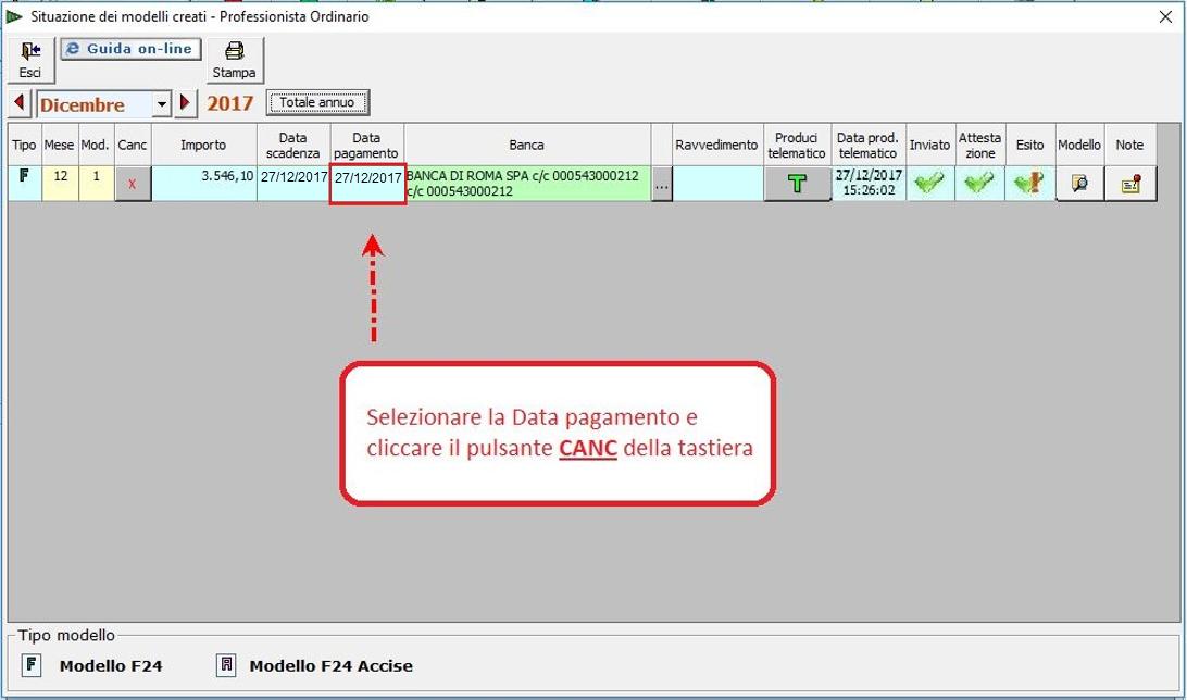 Caso pratico: gestione F24 scartato inviato tramite Console - 3