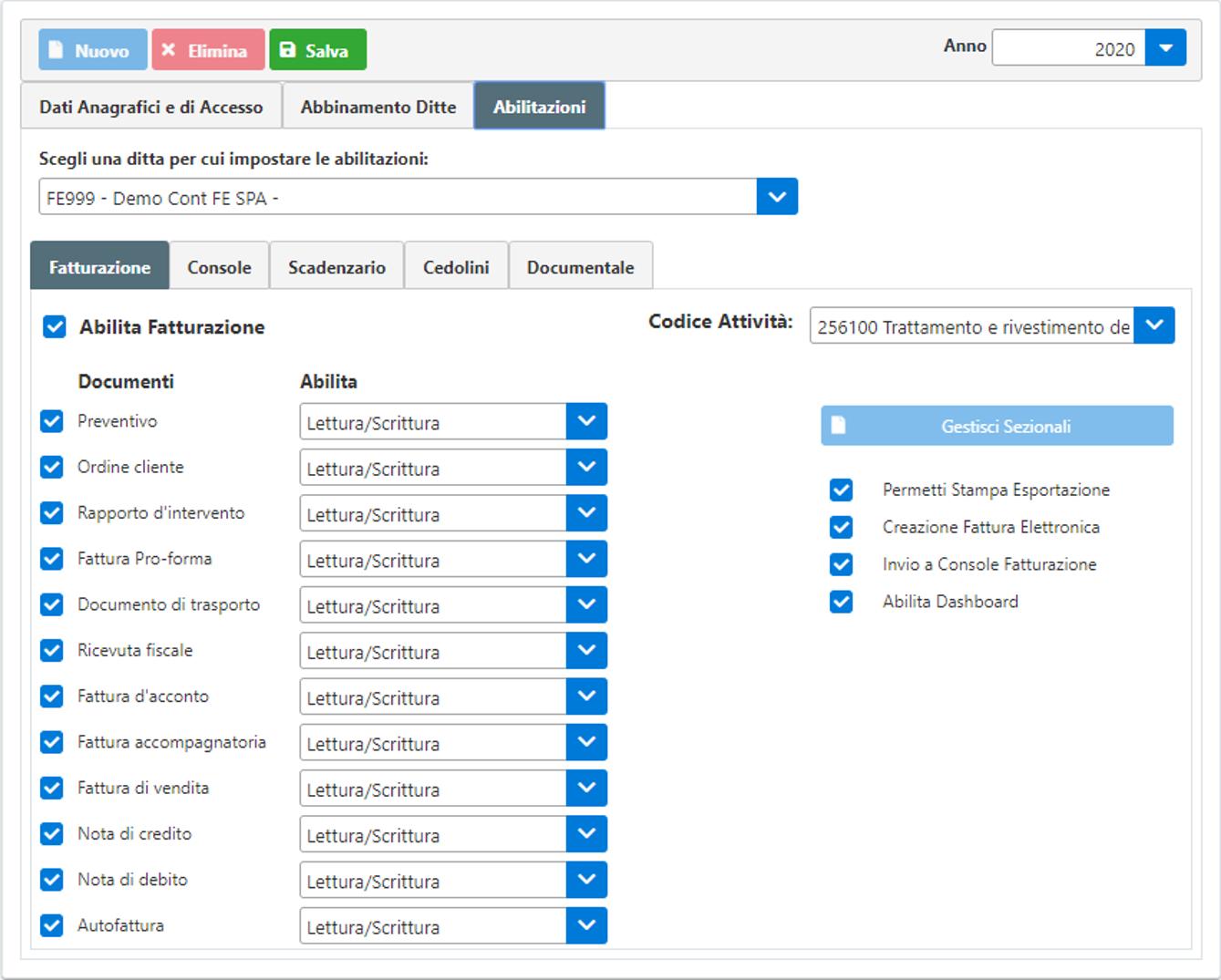 Gestione Utenti Web – rilascio applicazione - Abilitazione permessi
