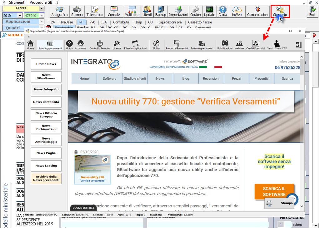 Help e utility a supporto dei clienti GB - Newsletter GB in supporto