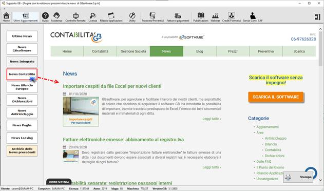 Help e utility a supporto dei clienti GB - Archivio newsletter