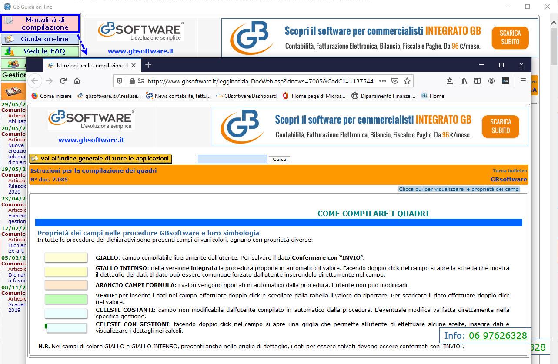 Help e utility a supporto dei clienti GB - Modalità compilazione