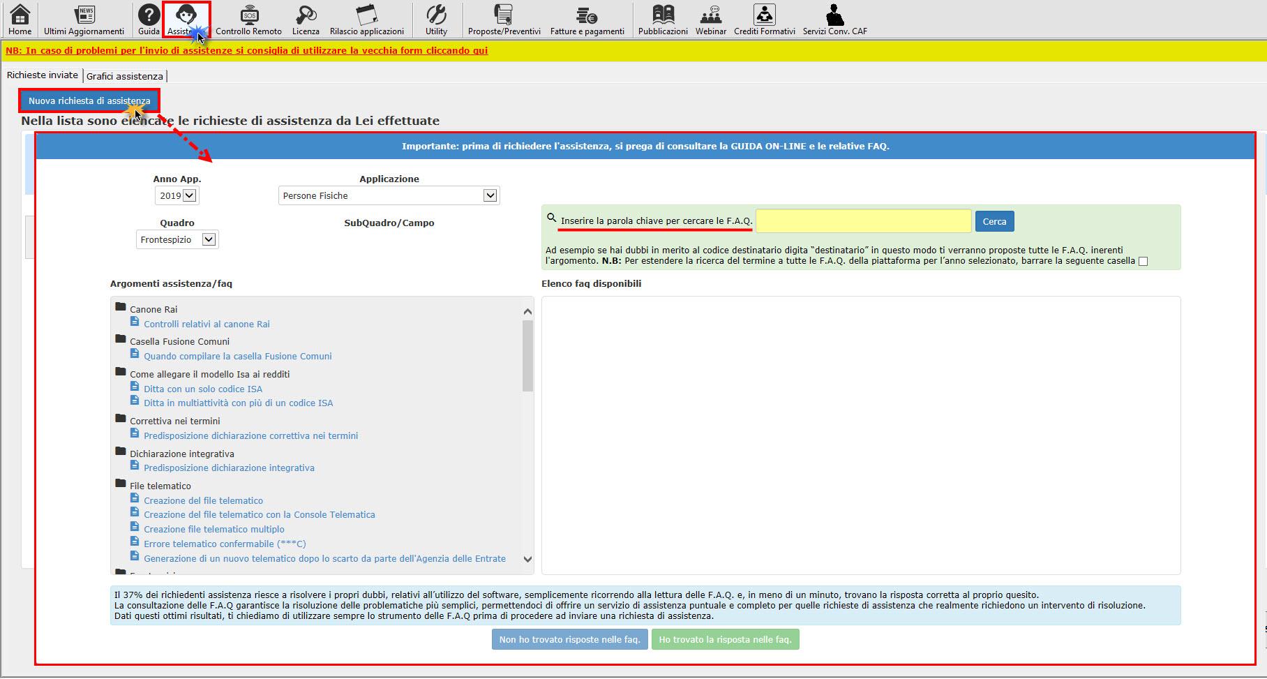 Help e utility a supporto dei clienti GB - Inserimento parola chiave