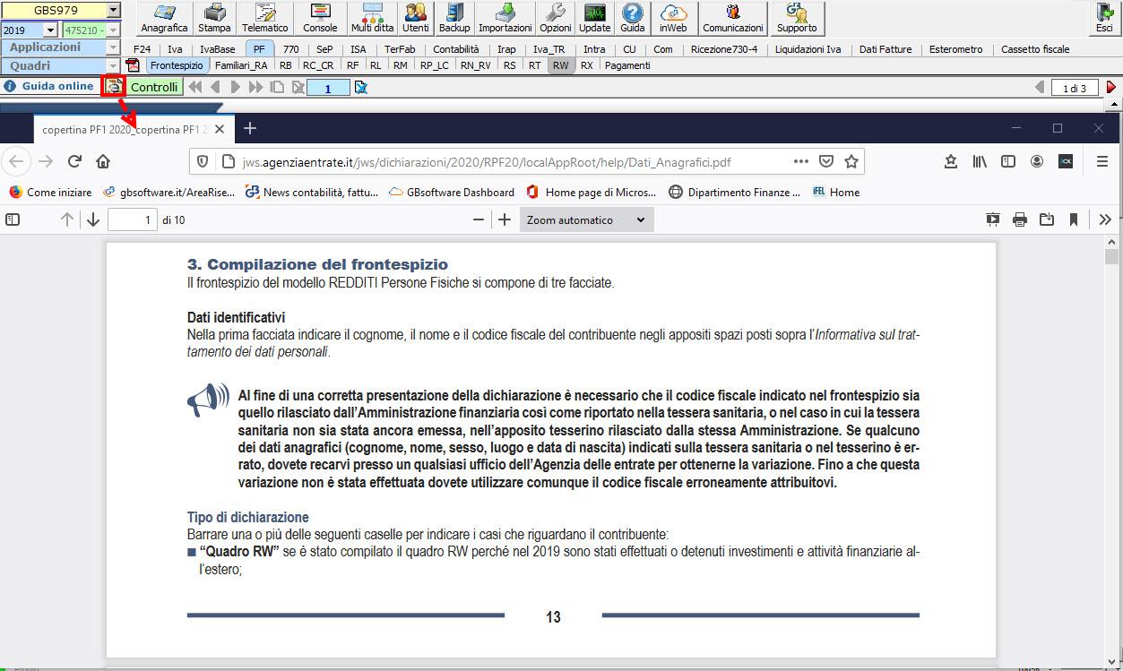 Help e utility a supporto dei clienti GB - Visualizza istruzioni ministeriali specifiche