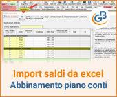 Import saldi da Excel: come conservare gli abbinamenti tra i due piani dei conti?