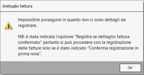 Importazione fatture elettroniche: conferma registrazione - Schermata dettaglio fattura