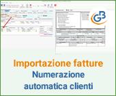 Importazione fatture elettroniche: numerazione automatica clienti e fornitori