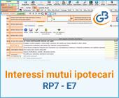 Interessi mutui ipotecari acquisto abitazione principale 2020: RP7 – E7