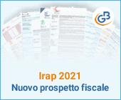 Irap 2021: nuovo prospetto fiscale