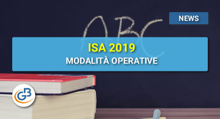 News - ISA 2019: modalità operative