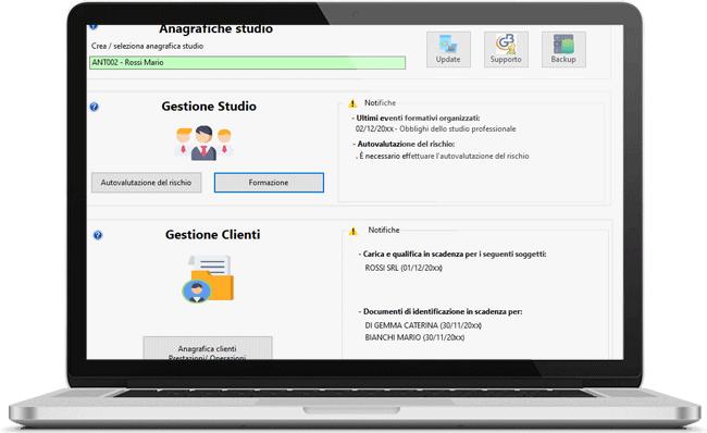 Gestione dello studio e del cliente con il software Antiriciclaggio