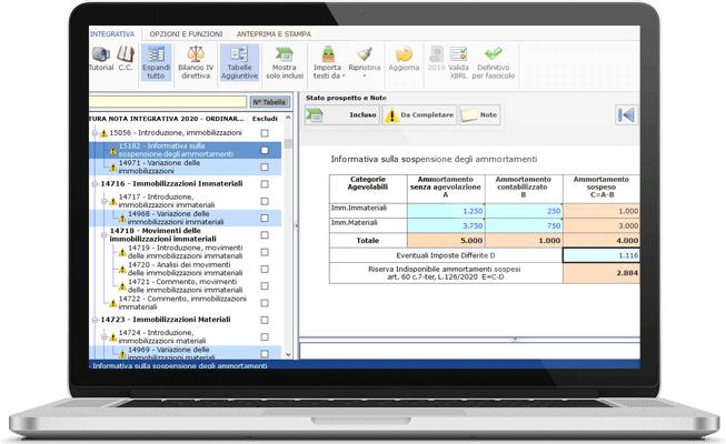 Funzionalità Software Bilancio