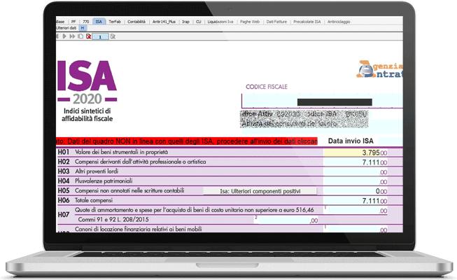 ISA nel software Dichiarazioni Fiscali