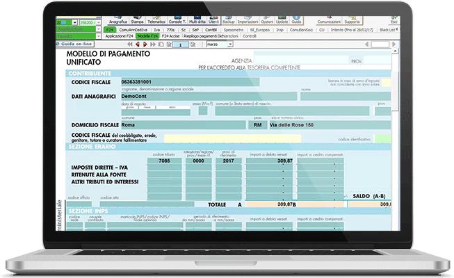 F24 nel software Dichiarazioni Fiscali