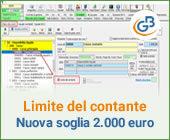 Limite del contante: dal 1° Luglio nuova soglia a 2.000 euro