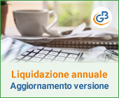 Liquidazione annuale: aggiornamento versione