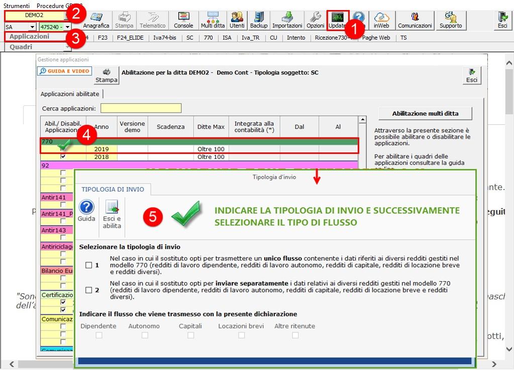 Modello 770 2020: disponibile applicazione - Seconda modalità di abilitazione